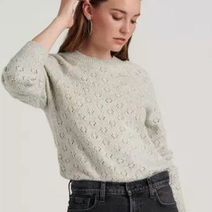 LUCKY BRAND Emily Pointelle Pullover Sweater NWT